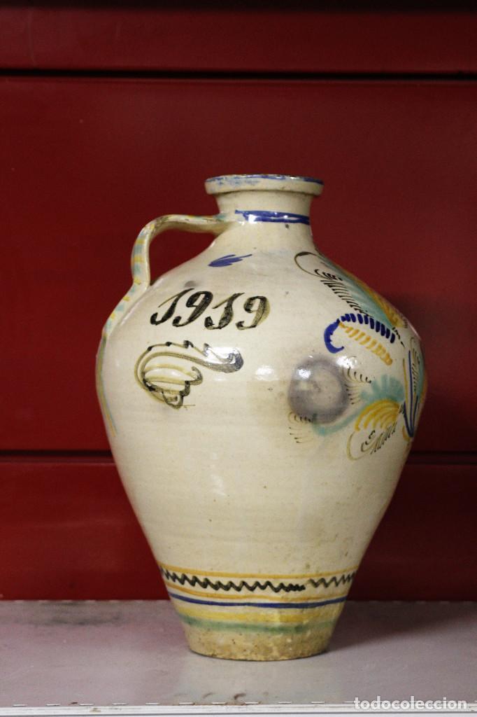 Antigüedades: Jarron de cerámica. Puente del Arzobispo. 1919 - Foto 4 - 105190071