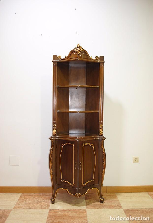 Estanter a antigua rinconera luis xv comprar muebles auxiliares antiguos en todocoleccion - Estanterias de rinconera ...