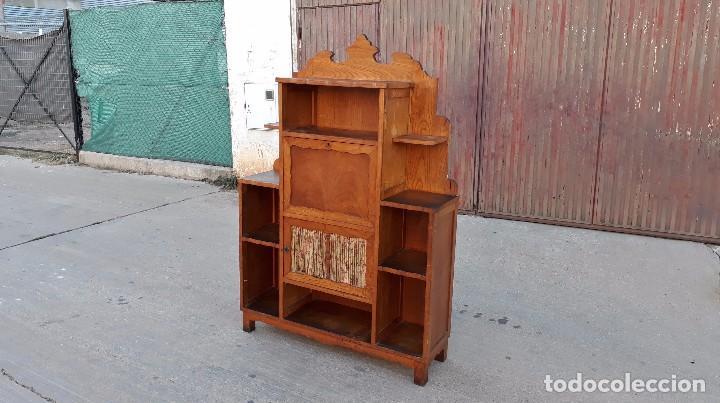 Alacena antigua, aparador antiguo, mueble auxiliar de cocina con buró  antiguo retro vintage