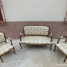Antigüedades: BONITO TRESILLO MUY BIEN REALIZADO. Lote 105229511