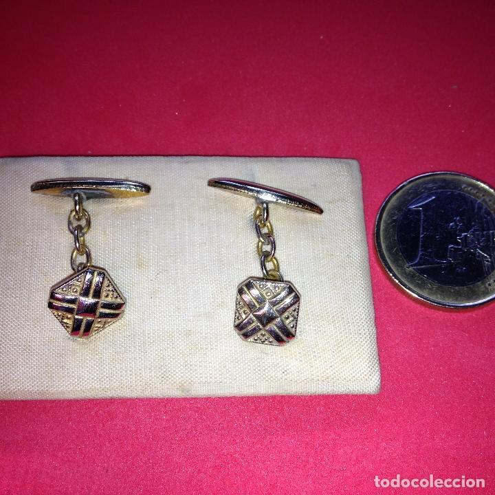 Antigüedades: ANTIGUOS Y ELEGANTES GEMELOS - Foto 2 - 105237131