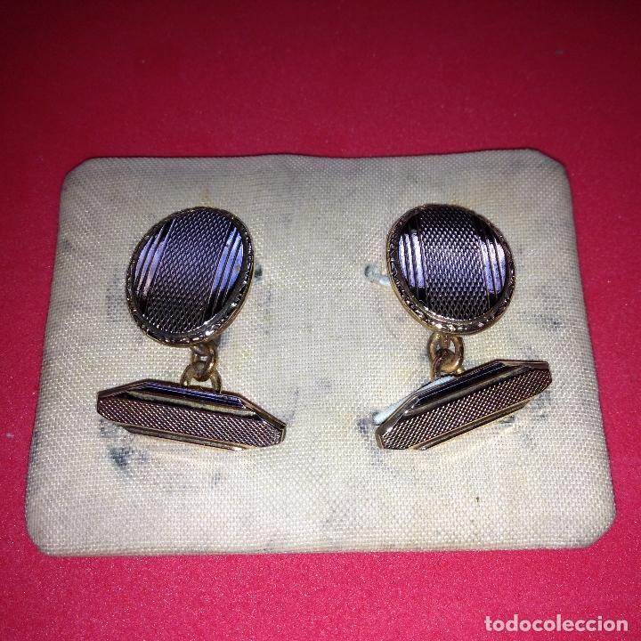 Antigüedades: ANTIGUOS Y ELEGANTES GEMELOS - Foto 2 - 105237271