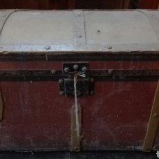 Antigüedades: BAÚL ANTIGUO DE MADERA. Lote 105245220