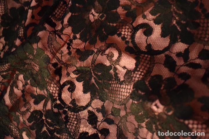 Antigüedades: Mantilla antigua Doble blonda tamaño grande perfecto estado - Foto 3 - 105259391