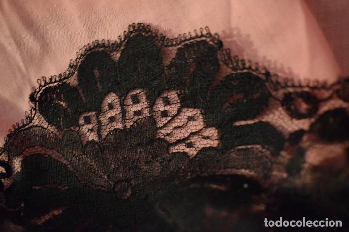 Antigüedades: Mantilla antigua Doble blonda tamaño grande perfecto estado - Foto 16 - 105259391