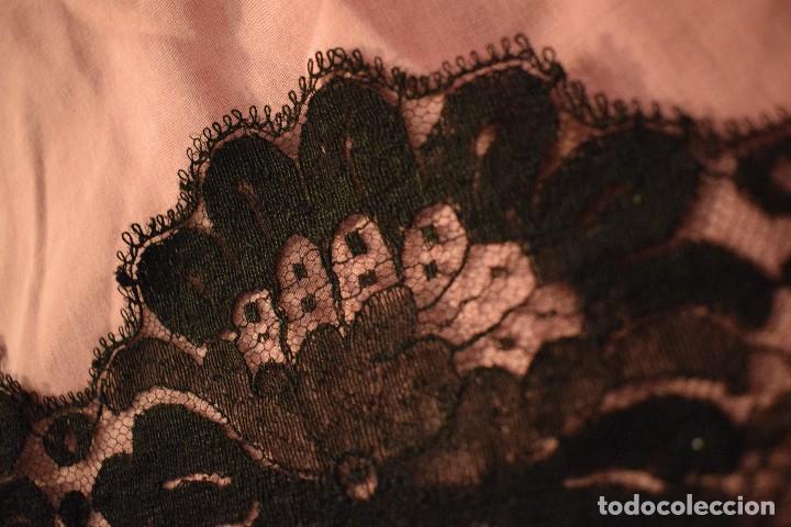 Antigüedades: Mantilla antigua Doble blonda tamaño grande perfecto estado - Foto 19 - 105259391