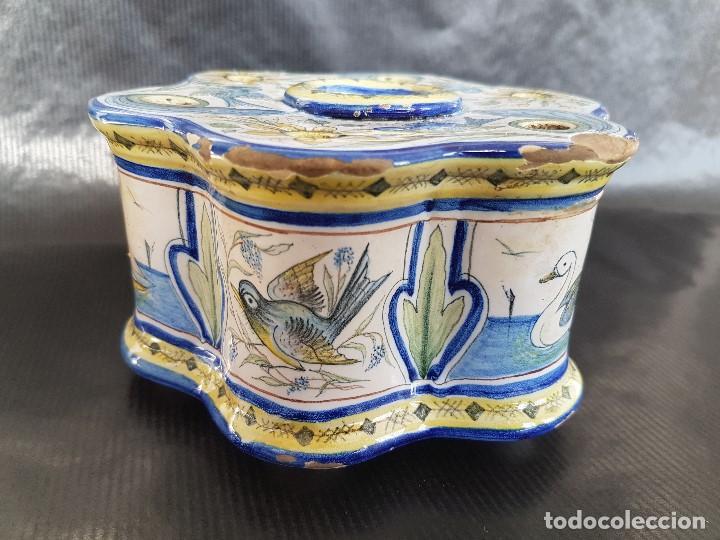 Antigüedades: ONDA INTERESANTE TINTERO. MARCAS EN LA BASE. - Foto 3 - 105261811