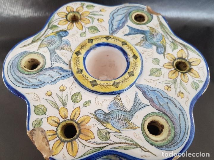 Antigüedades: ONDA INTERESANTE TINTERO. MARCAS EN LA BASE. - Foto 6 - 105261811