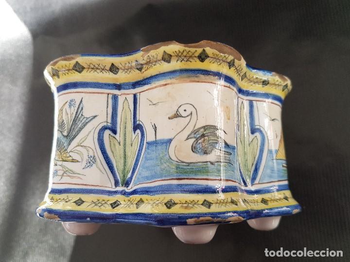 Antigüedades: ONDA INTERESANTE TINTERO. MARCAS EN LA BASE. - Foto 7 - 105261811