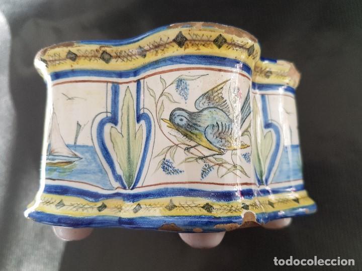 Antigüedades: ONDA INTERESANTE TINTERO. MARCAS EN LA BASE. - Foto 8 - 105261811