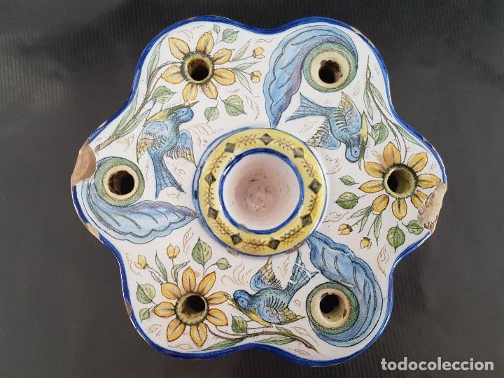 Antigüedades: ONDA INTERESANTE TINTERO. MARCAS EN LA BASE. - Foto 9 - 105261811