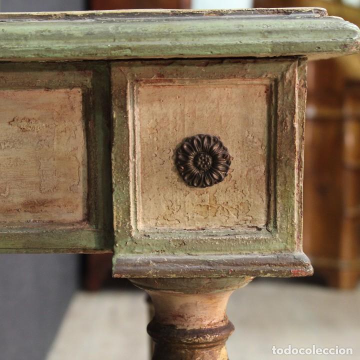 Antigüedades: Antigua consola con espejo torinese lacada epoca Luís XVI - Foto 3 - 105267439