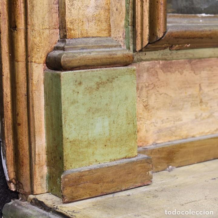 Antigüedades: Antigua consola con espejo torinese lacada epoca Luís XVI - Foto 13 - 105267439