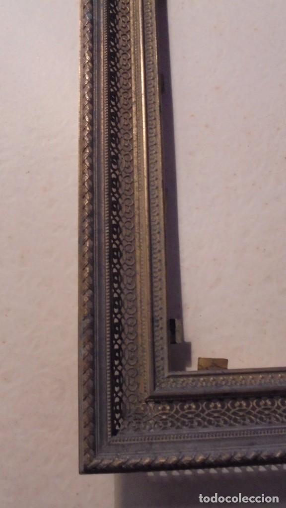 Antigüedades: ANTIGUO MARCO DE BRONCE S. XIX -DE BRONCE , 21X14,5 CM. ORIGINAL DE LA EPOCA , NO REPRODUCCION - Foto 3 - 105273743