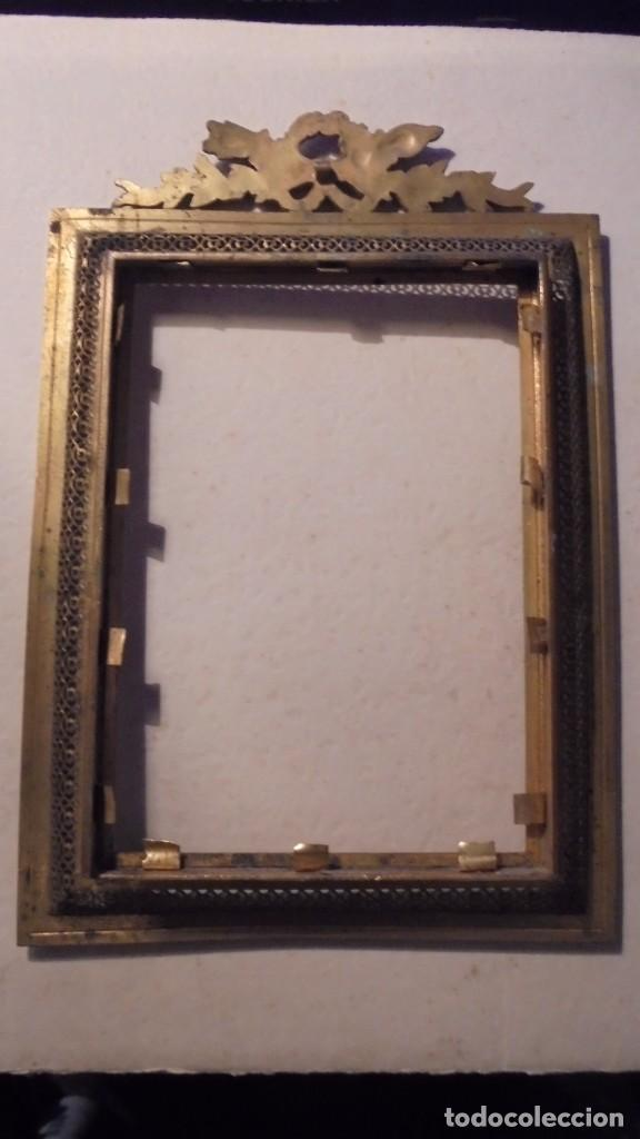 Antigüedades: ANTIGUO MARCO DE BRONCE S. XIX -DE BRONCE , 21X14,5 CM. ORIGINAL DE LA EPOCA , NO REPRODUCCION - Foto 5 - 105273743