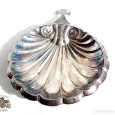 Antigüedades: PLATO RELIGIOSO DE PLATA 14,5 CM DE LARGO - 40 GRAMOS. Lote 105298211