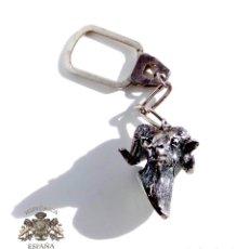 Antigüedades: LLAVERO DE PLATA - MUFLÓN - CAZA, MONTERÍA - PESO 42 GRAMOS . Lote 105301655