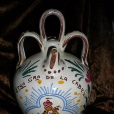Antigüedades: ANTIGUO BOTIJO CERAMICA DE ANDUJAR, PINTADO A MANO. Lote 105306351