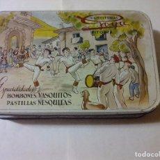Antiquités: CAJA ANTIGUA CONFITURAS GOYA VITORIA. Lote 105306511