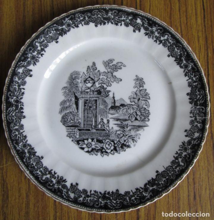 Antigüedades: PAREJA DE PLATOS De ceramica SANTA CLARA - Medidas 21,5 cm. - Foto 2 - 105320383