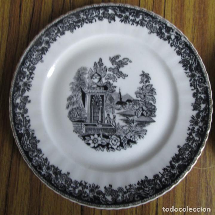 Antigüedades: PAREJA DE PLATOS De ceramica SANTA CLARA - Medidas 21,5 cm. - Foto 3 - 105320383