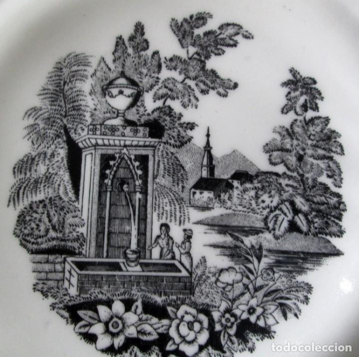 Antigüedades: PAREJA DE PLATOS De ceramica SANTA CLARA - Medidas 21,5 cm. - Foto 4 - 105320383