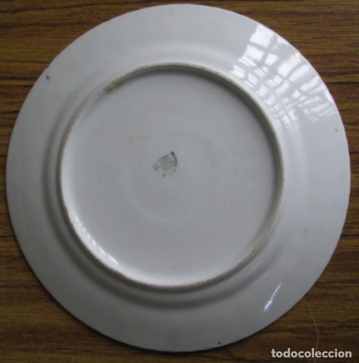 Antigüedades: PAREJA DE PLATOS De ceramica SANTA CLARA - Medidas 21,5 cm. - Foto 5 - 105320383
