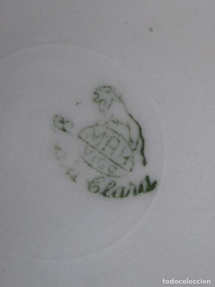 Antigüedades: PAREJA DE PLATOS De ceramica SANTA CLARA - Medidas 21,5 cm. - Foto 6 - 105320383