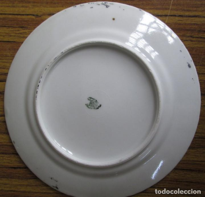 Antigüedades: PAREJA DE PLATOS De ceramica SANTA CLARA - Medidas 21,5 cm. - Foto 7 - 105320383
