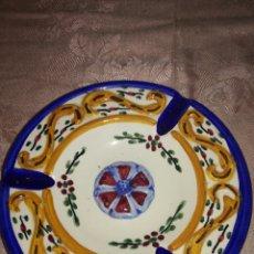 Antigüedades: GRAN CENICERO DE CERÁMICA CON PEANA. Lote 105320512