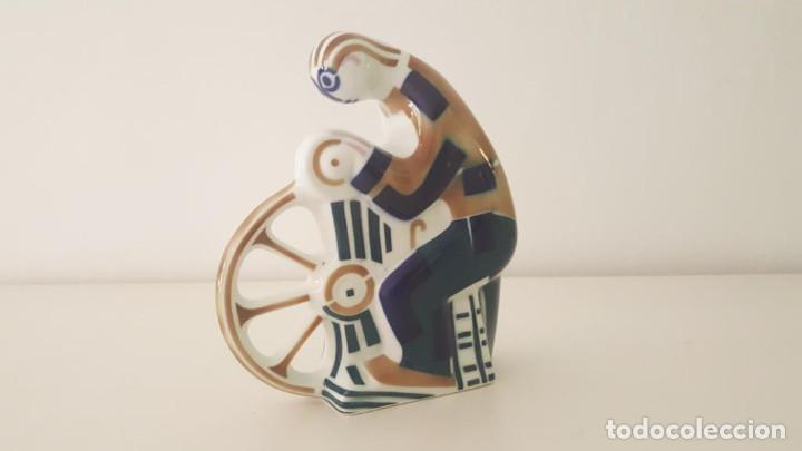 Antigüedades: Figura Sargadelos afilador / Sargadelos sharpener porcelain figurine - Foto 3 - 105324211