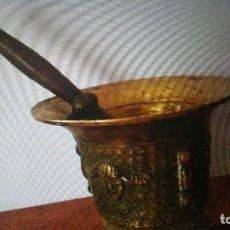 Antigüedades: ALMIREZ DE BRONCE MEDIEBAL DEL SIGLO XVIII. Lote 105327127