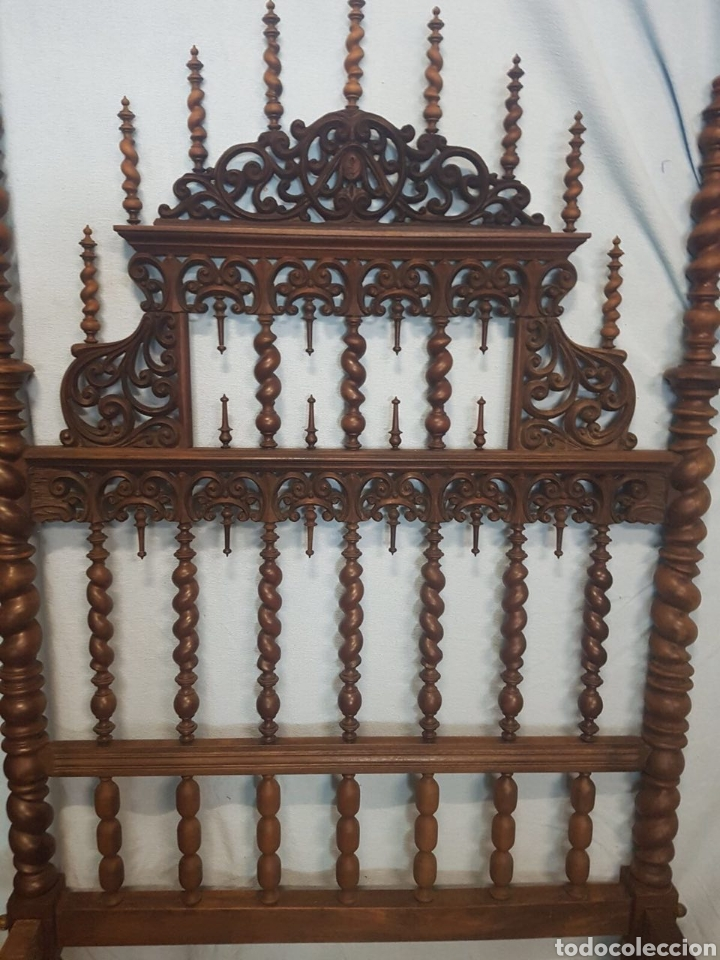 CAMA DE CASA PALACIO SIGLO XIX (Antigüedades - Muebles Antiguos - Camas Antiguas)