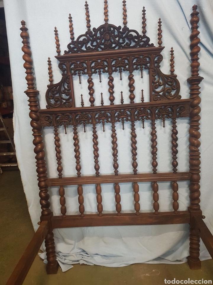 Antigüedades: Cama de casa palacio siglo XIX - Foto 3 - 105327740