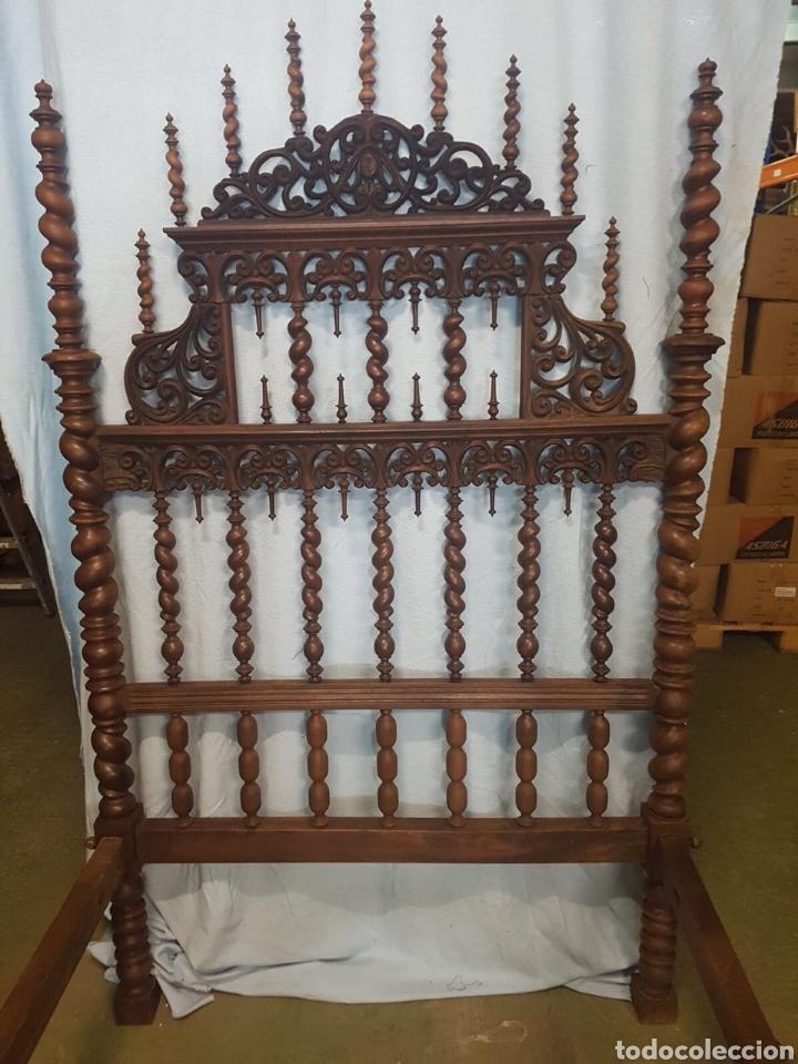 Antigüedades: Cama de casa palacio siglo XIX - Foto 4 - 105327740