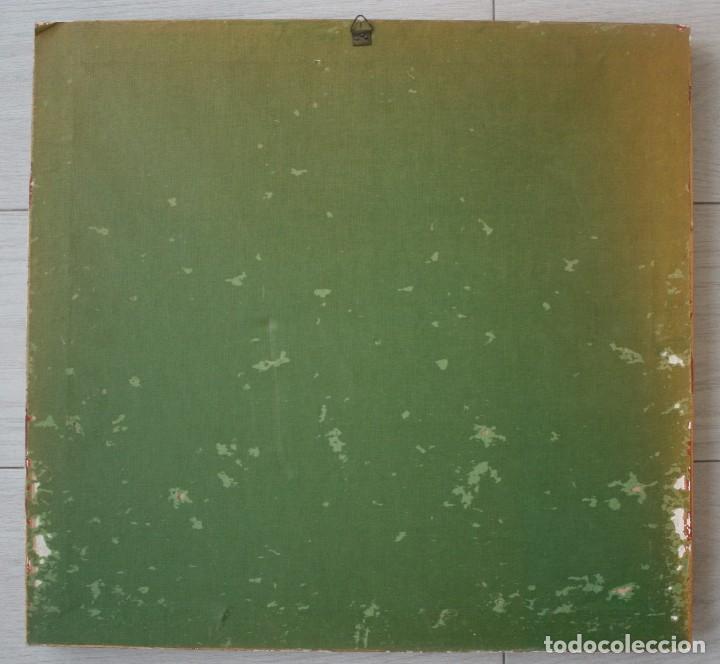 Antigüedades: PAREJA ANTIGUOS TAPICES ENMARCADOS 55 X 52 CM – CUADRO TAPIZ – ESCENA CAMPESINA ARMONIOSO COLORIDO - Foto 6 - 105331107