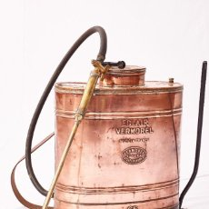 Antigüedades: FUMIGADOR DE COBRE COMPLETO. Lote 105336763