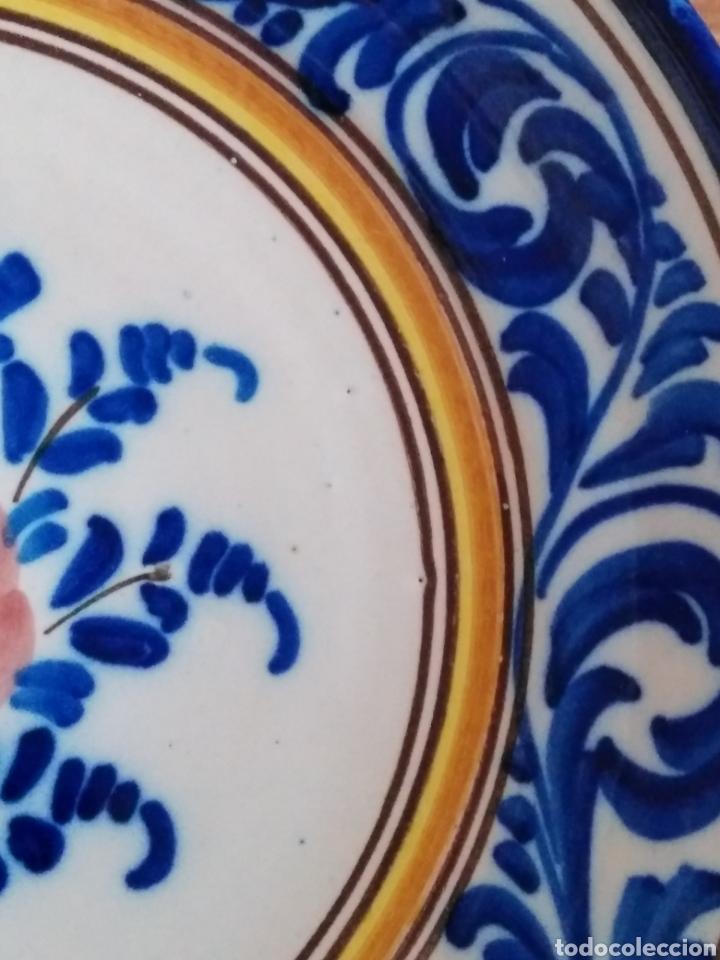 Antigüedades: Plato cerámica de Teruel, principios siglo XX. En perfecto estado - Foto 2 - 105337124