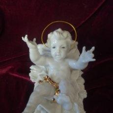 Antigüedades: NIÑO JESÚS EN PORCELANA ALGORA PERFECTO ESTADO. Lote 105356131
