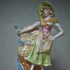 Antigüedades: PORCELANA ART NOUVEAU PESCADORA. Lote 105358759