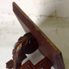 Antigüedades: ANTIGUA PEANA - MENSULA EN MADERA - ORIGINAL SIGLO XIX. Lote 105366451