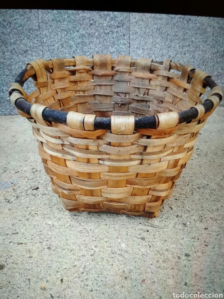 Antigüedades: Cesto de madera . - Foto 2 - 105370871