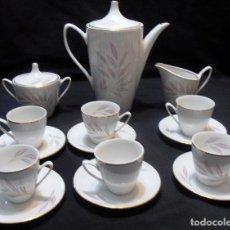 Antigüedades: JUEGO DE CAFE SANTA CLARA 15 SERVICIOS, MAH VIGO. Lote 105373143