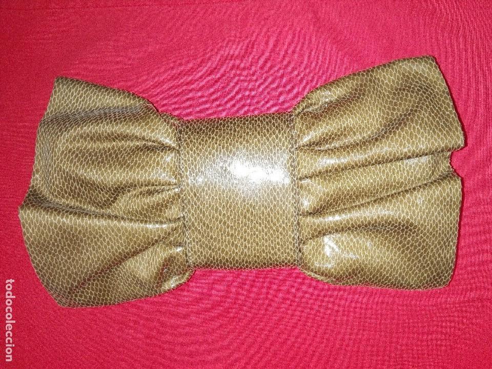 Antigüedades: Cartera imitación de piel de serpiente - Foto 2 - 105376007