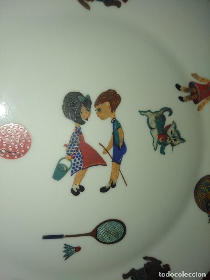Antigüedades: Plato infantil de porcelana Sanbo Vintage. - Foto 2 - 105389843