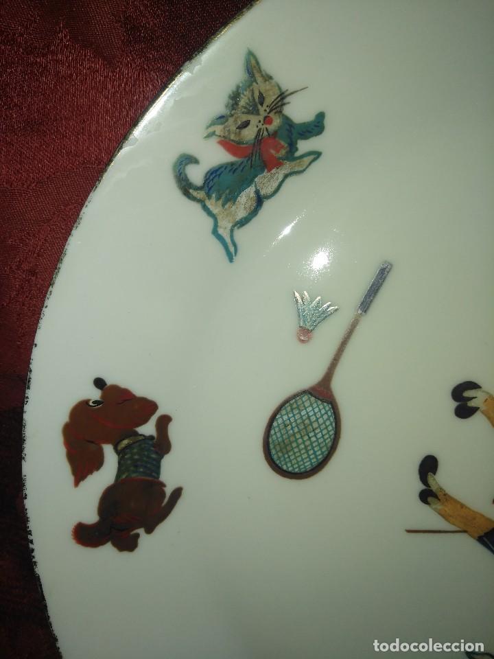 Antigüedades: Plato infantil de porcelana Sanbo Vintage. - Foto 4 - 105389843