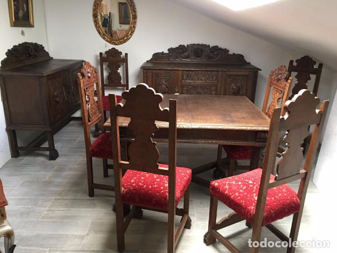 COMEDOR TALLADO (Antigüedades - Muebles Antiguos - Mesas Antiguas)