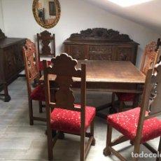 Antigüedades: COMEDOR TALLADO. Lote 105416587