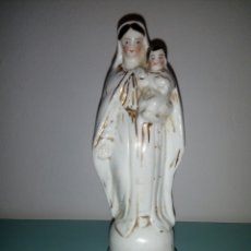 Antigüedades: IMAGEN PORCELANA VIRGEN CON NIÑO LIMOGES. Lote 105574019