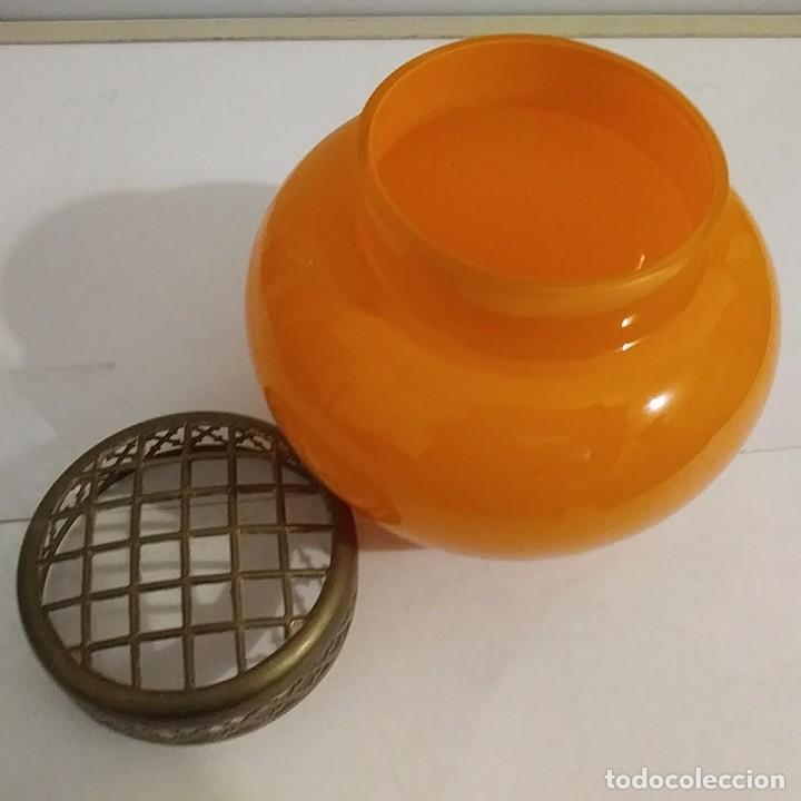 Antigüedades: Antiguo florero en opalina naranja - Foto 3 - 105574671